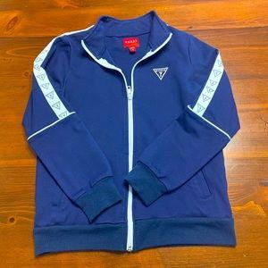 Girls Navy Blue Guess Jacket